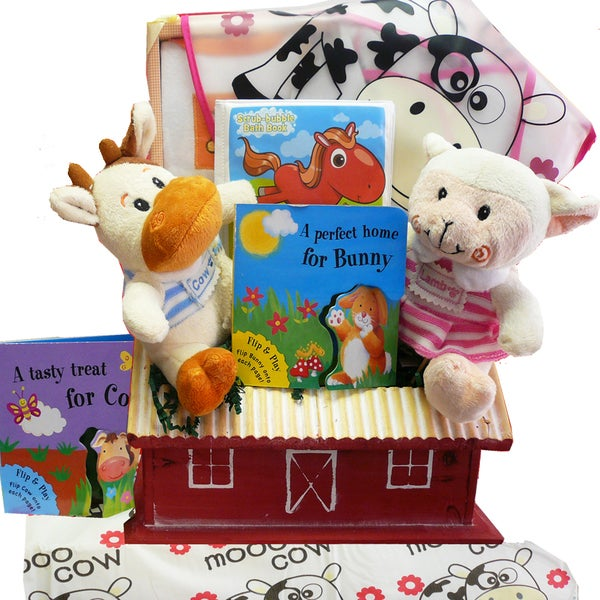 Art of Appreciation Fun on the Farm Baby Gift Basket