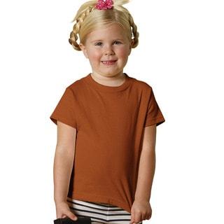 Youth Texas Orange Cotton Short-sleeved Jersey T-shirt