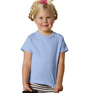 Youth Blue Cotton Short-sleeve T-shirt