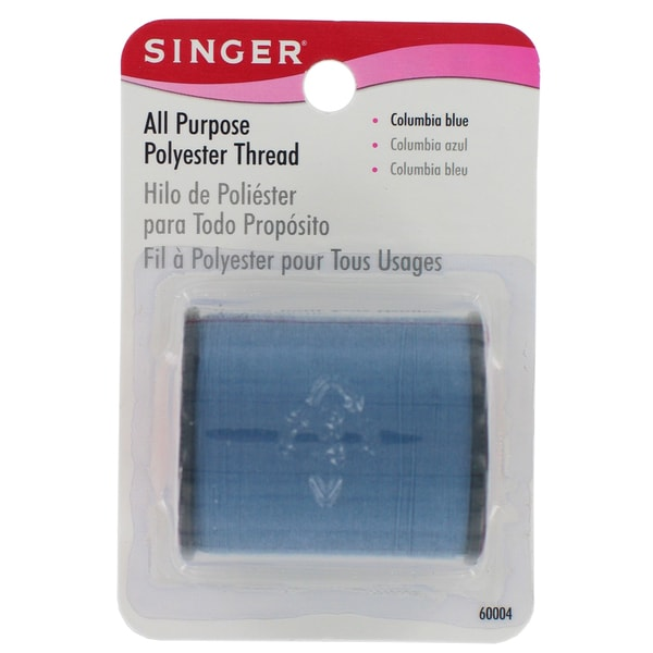 Singer 60004 150 Yards Columbia Blue All Purpose Polyester Thread