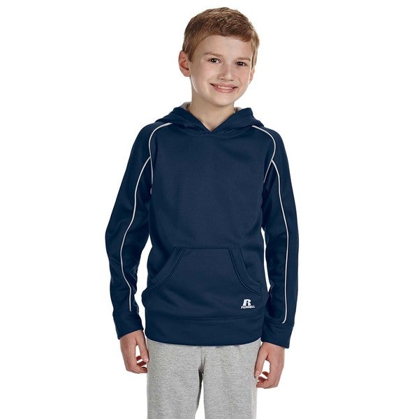 Tech Boys' Blue Fleece Pullover Hoodie