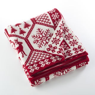 Sevan Collection Christmas Design Knitted Throw Blanket