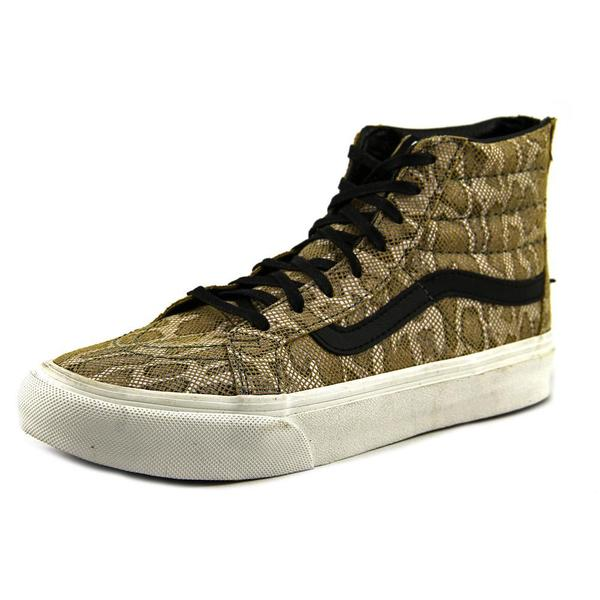 Vans Women's 'Sk8-Hi Slim Zip' Leather Athletic Shoes
