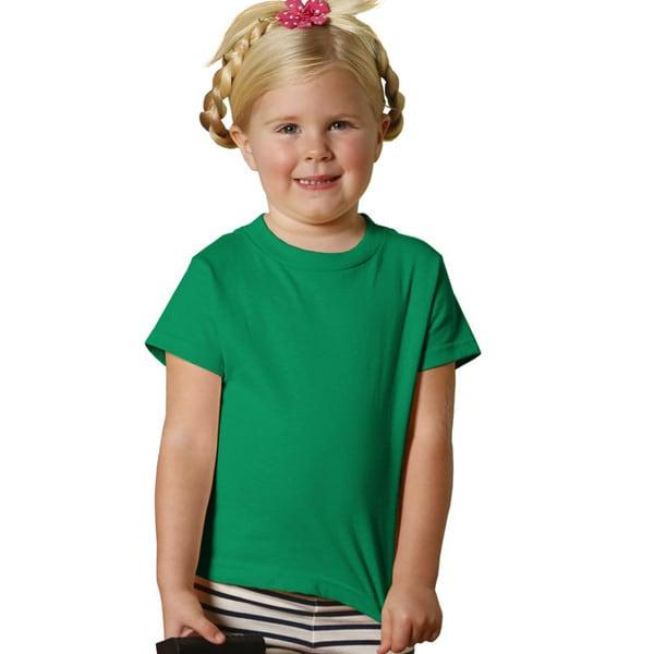 Girls' Kelly Green 5.5-ounce Jersey Short-sleeved T-shirt