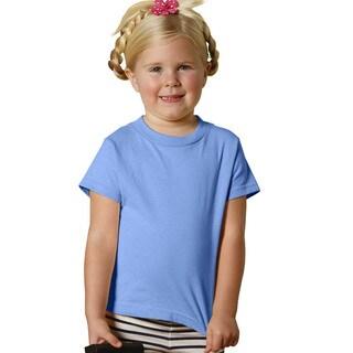 Girls' Carolina Blue 5.5-ounce Jersey Short-sleeved T-shirt