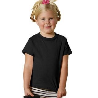 Youths' 5.5-ounce Black Jersey Short-sleeve T-shirt