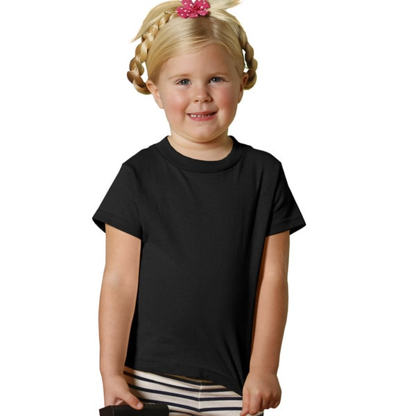 Youths' 5.5-ounce Black Jersey Short-sleeve T-shirt