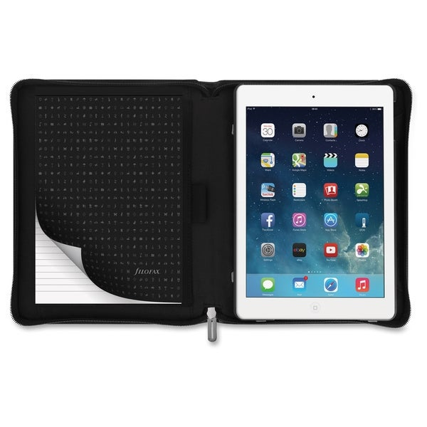 Filofax Carrying Case for iPad Air 2 - Black - Black