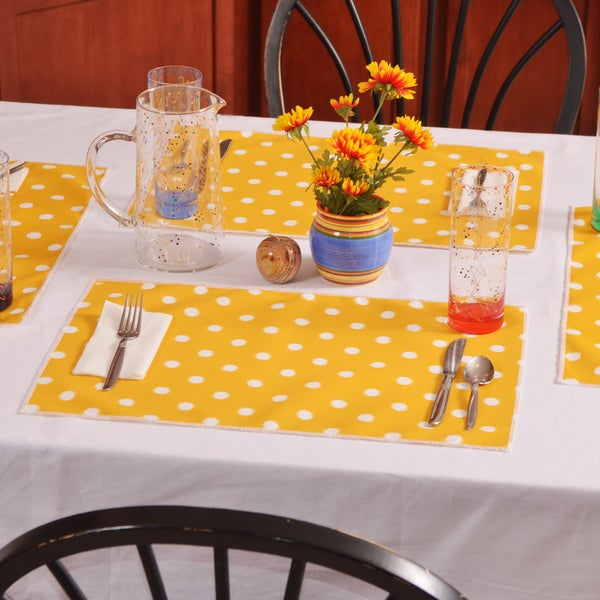Ikat Citrus Yellow Placemats (Pack of 4)