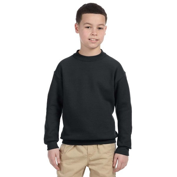 Super Sweats Youth Black Crewneck Sweatshirt
