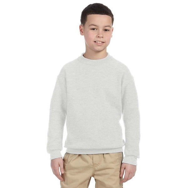 Super Sweats Youth Ash Crewneck Sweatshirt