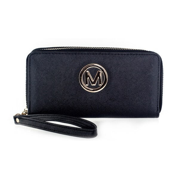Faddism Women's Black Hemp Clutch Bag Wallet
