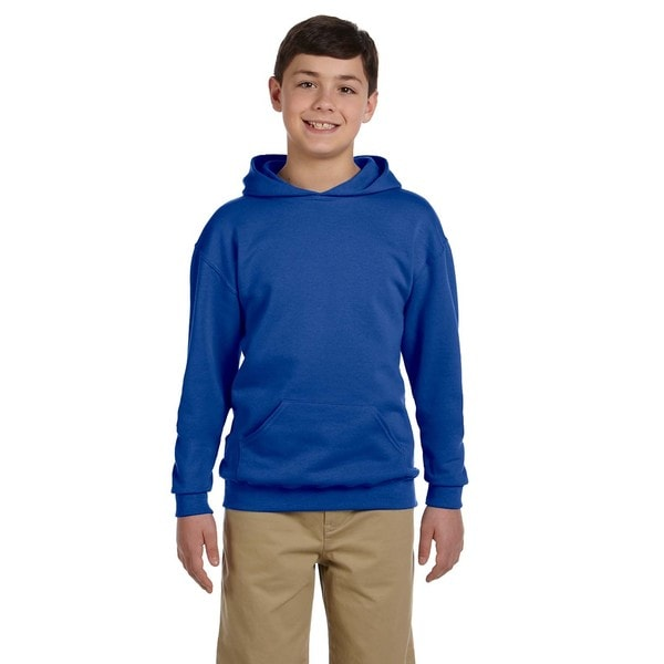 NuBlend Boys' Royal Hooded Pullover Sweatshirt