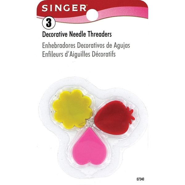 Singer 07340 Decorative Needle Threaders 3-count Assorted Colors