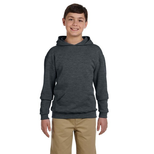 Boy's Nublend Black Heather Hooded Pullover Sweatshirt