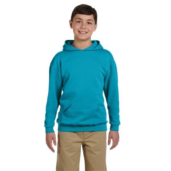 Nublend Boy's California Blue Hooded Pullover Sweatshirt