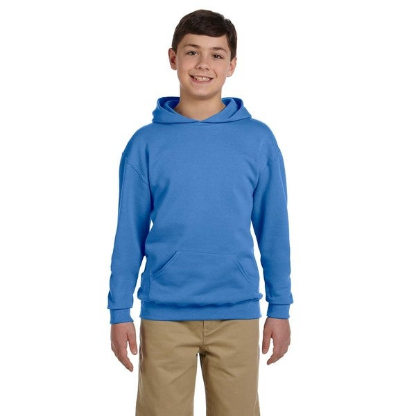 Boys' Columbia Blue Cotton/Polyester Nublend Hooded Pullover Sweatshirt
