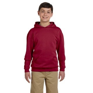 Nublend Boy's Crimson Hooded Pullover Sweatshirt