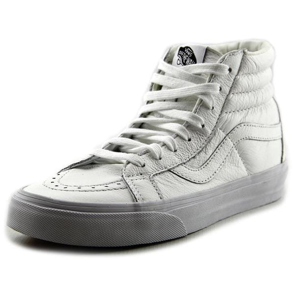 Vans Women's 'Sk8-Hi Slim Zip' White Leather Athletic Shoes