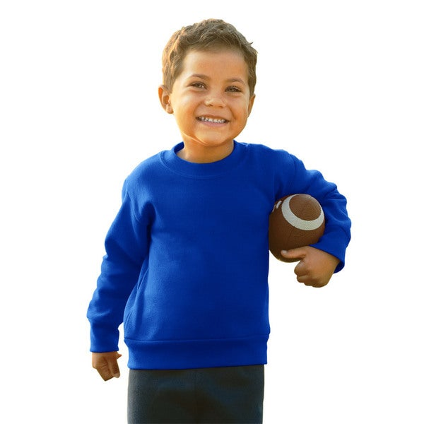 Boys Royal Blue Cotton/Polyester Fleece Sweatshirt