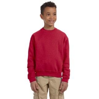 Jerzees Boy's True Red NuBlend Crewneck Sweatshirt