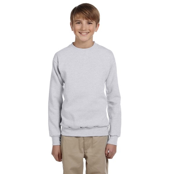Hanes Boy's Grey Polyester Long Sleeve Sweatshirt