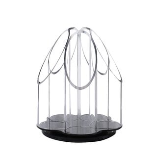 Ikee Design Acrylic Rotating Makeup Cosmetic Brush Holder
