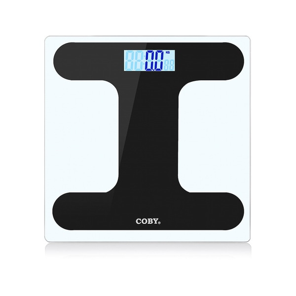 Coby Bluetooth Tempered Glass Digital Bathroom Scale with BMI Function