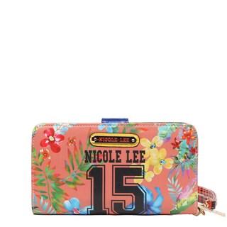 Nicole Lee Numeric 15 Multicolor Faux Leather, Nylon Print Wallet