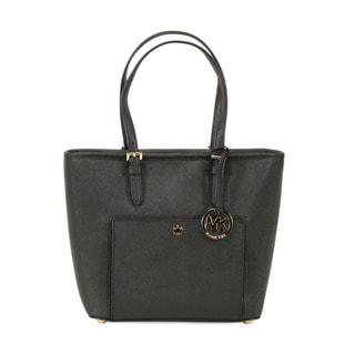 Michael Kors Black Medium Jet Set Top-zip Snap Pocket Tote Bag