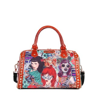 celine blue suede bag - nicole lee,Zipper Handbags - Overstock.com Shopping - Stylish ...
