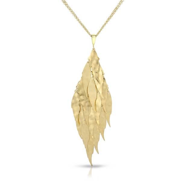 Adami & Martucci Gold over Silver Triangle Pendant Necklace