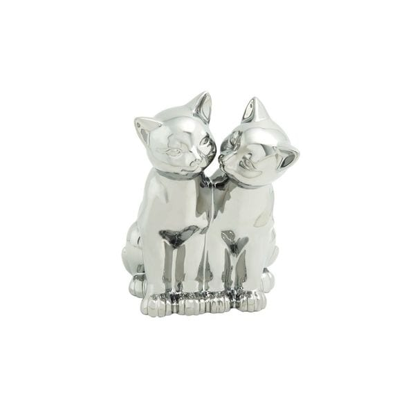 Decorative Porcelain Twin Cat Sculpture