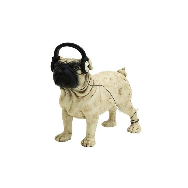 PS Dog With Headphones Sculpture