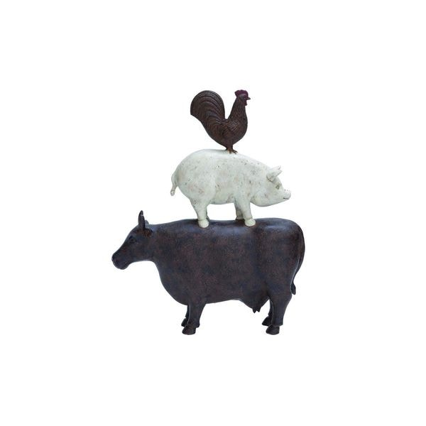 Resin Farm Animal Decorative Sculpture