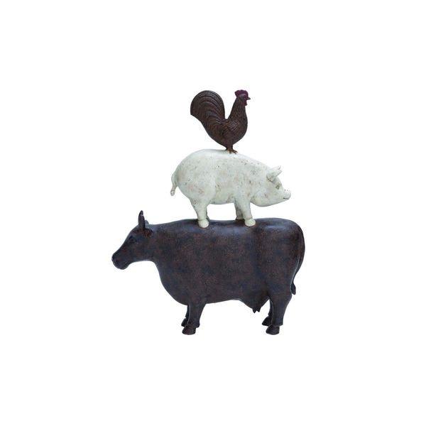 Resin Farm Animal Decorative Sculpture