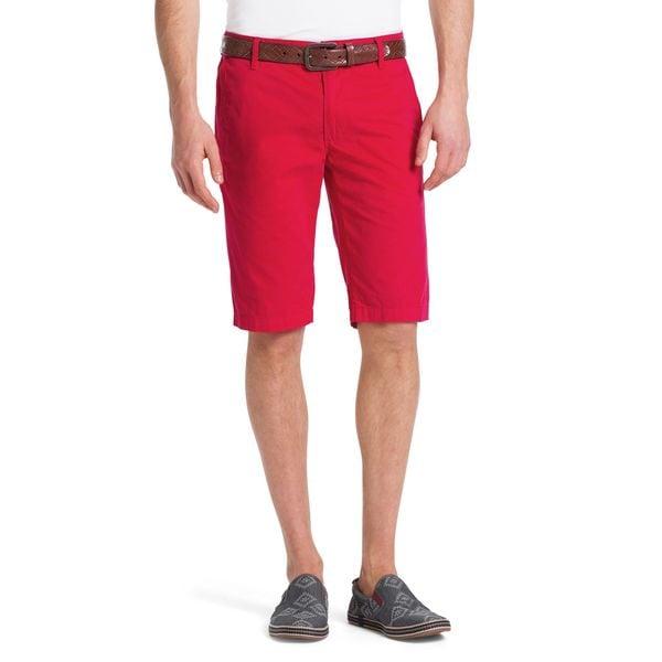 Hugo Boss Clyde 1-D Red Cotton Shorts