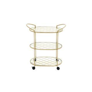 Metal Glass 31-inch Bar Cart