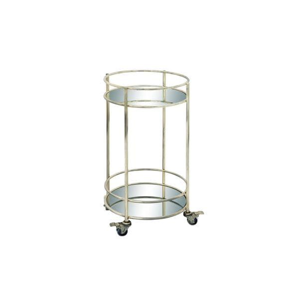 Metal Mirror Bar Cart