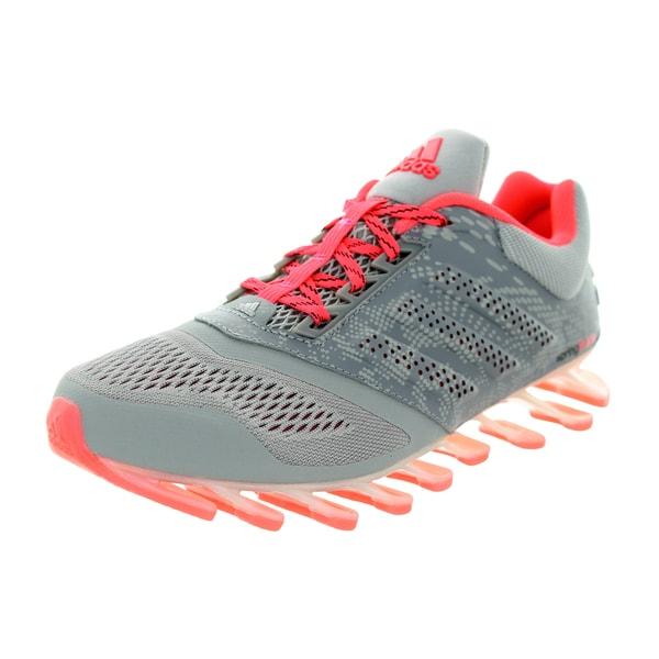 Adidas Women's Springblade Drive 2 Grey/Metallic Silver/Pink Running Shoe