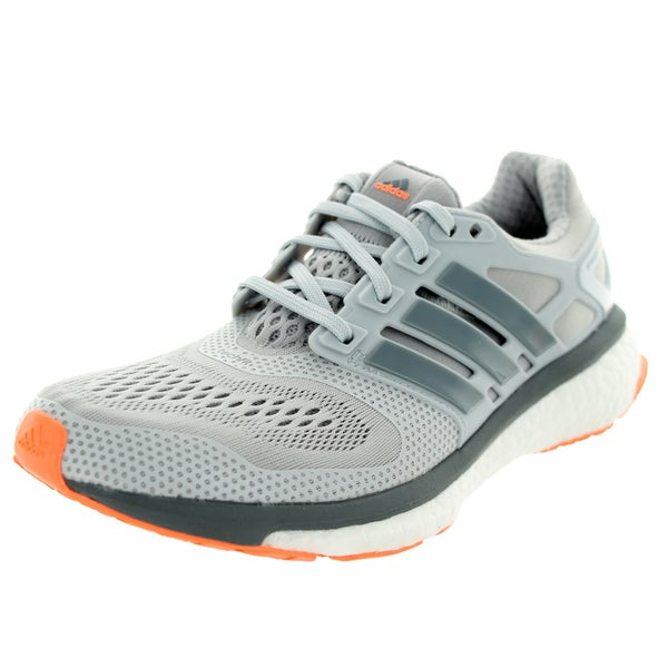 Adidas Women's Energy Boost Esm Solid Grey/Grey/Flash Orange Running Shoe