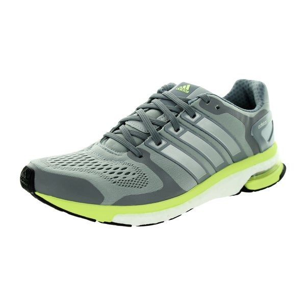 Adidas Women's Adistar Boost W Esm Light Grey/Lime Green Running Shoe