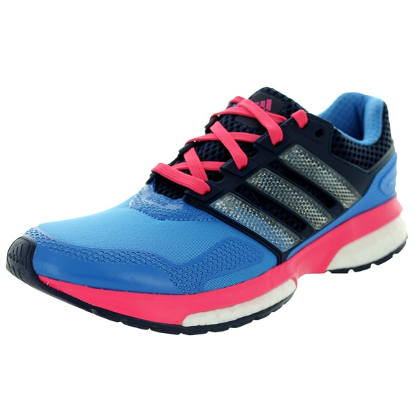Adidas Women's Response Boost 2 Techfit W Blue/Pink Running Shoe
