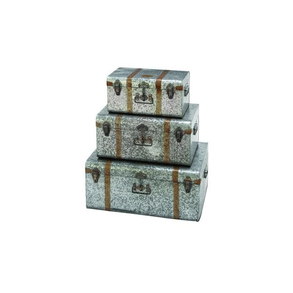 Grey Iron Three-piece Decorative Trunks