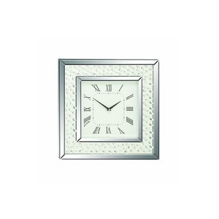 Mirror and Glass Wall Clock
