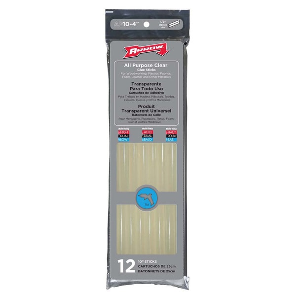 "Arrow Fastener AP10-4 12-count 10"" All Purpose Glue Sticks"