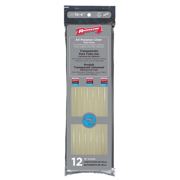 "Arrow Fastener AP10-4 12-count 10"" All Purpose Glue Sticks thumbnail"