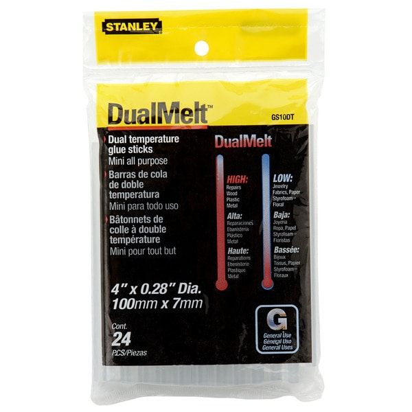 Stanley Hand Tools GS10DT 24-count Mini Dualmelt Glue Sticks