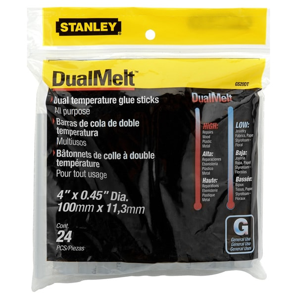 Stanley Hand Tools GS20DT 24-count DualTemp Glue Sticks