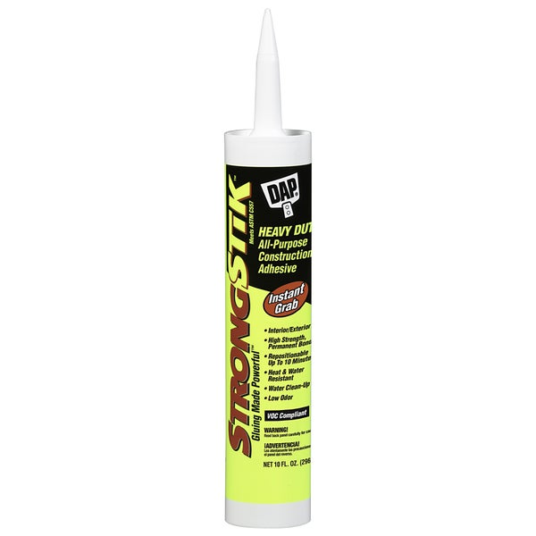Dap 01312 10 Oz White Heavy Duty All-Purpose Construction Adhesive